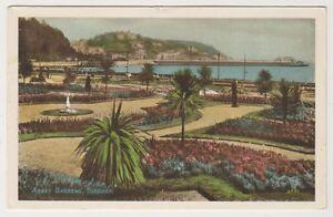 Devon-postcard-Abbey-Gardens-Torquay-P-U-1950