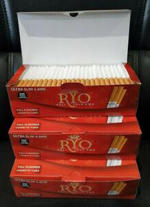 NEW-1200-ROLLO-RYO-6-5mm-RED-ULTRA-SLIM-FILTER-TUBES-Tobaccoo-Ciggarette