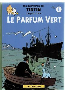 Pastiche-Tintin-LE-PARFUM-VERT-Tome-1-Cartonne-54-pages-en-n-blanc-HC