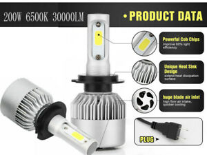 2x-LED-H7-200W-6000K-30000LM-Phare-de-Voiture-CREE-Ampoule-Headlight-Blanc-Xenon
