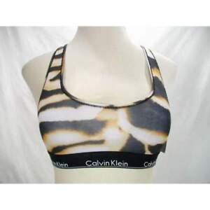ffcbcdb80f Image is loading Calvin-Klein-Bralette-Modern-Unlined-Bralette-Animal-Print-