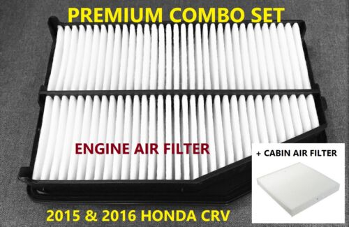 Premium Combo set Engine /& Cabin Air Filter for 2015 2016 Honda CRV CR-V