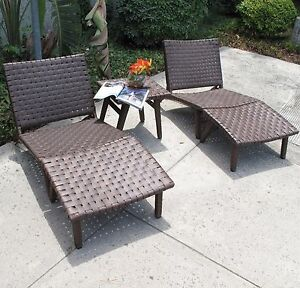 Image Is Loading Oxford Outdoor Patio Resin Wicker Lounge Chair 5