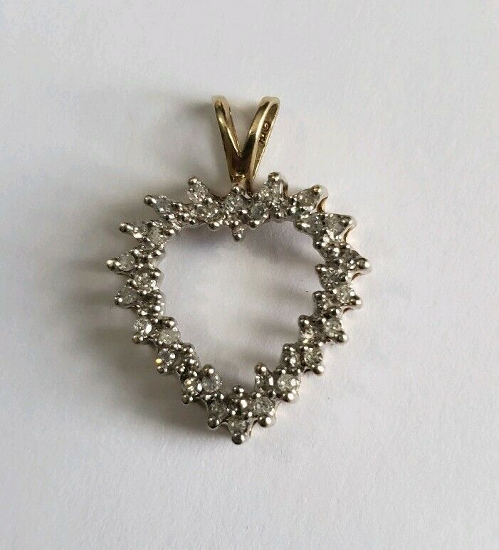 Alwand Vahan 10K Yellow gold Diamond Heart Pendant