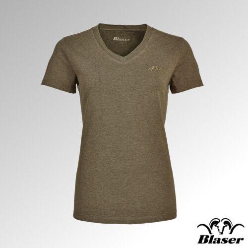 T Blaser 544 a da scollo Green V Melange 006 shirt 118020 con Reed donna rAHZqWrF5w