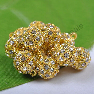 Lots Crystal Rhinestone Strong Magnetic Connector Clasp For Bracelets Necklace
