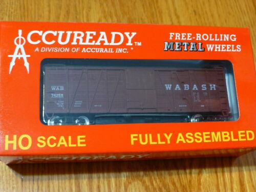 Accurail HO #94319 Wabash Single Sheath 40/' Wood Boxcar Rd #74258