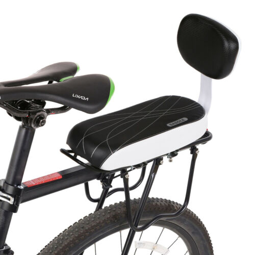 Bicycle Back Seat Cycling MTB PU Leather Cushion Children Seat w//Back Rest M8K5