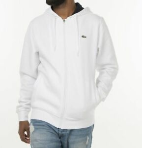 Hoodie Lacoste Whitepitch Full Sport Zip Brushed Fleece About Details n8OvmwN0