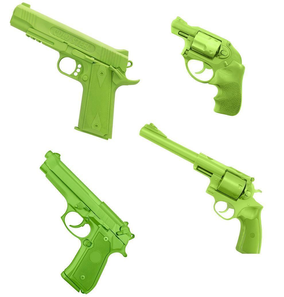 4 PC SET 1 1 SCALE RUBBER TRAINING GUN SET  Blau Training Handgun Rubber Gun