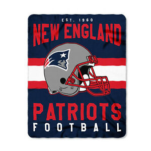 582cdeece63 New Style Football New England Patriots Fleece blanket Soft Throw 50 ...