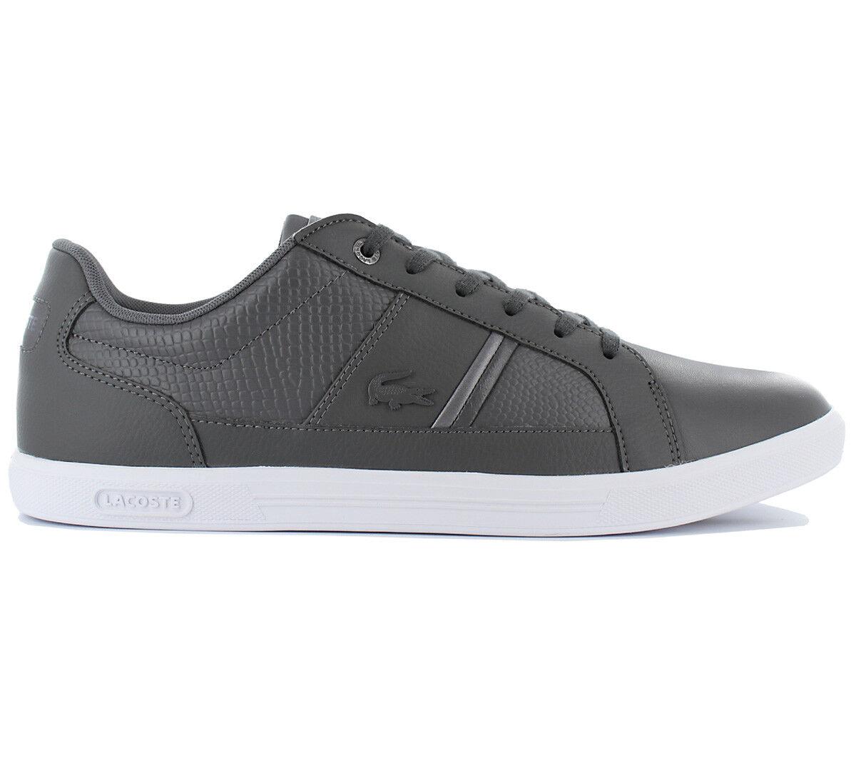 Lacoste Europa 417 1 SPM Herren Schuhe Freizeit Sneaker Leder Grau NEU