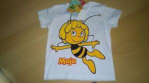 Biene-Maja-zuckersuesses-T-Shirt-mit-schoenem-Motiv-Groesse-74-100-Baumwolle