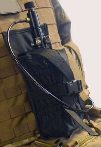 New-Tippmann-Paintball-Tactical-MOLLE-Tank-Holder-Vest-Pouch-Black