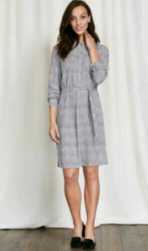 genou chemise Robe longueur ample manches Paula Neuf Taille Boden 12r longues Coupe Marque 1vaUvZwBq