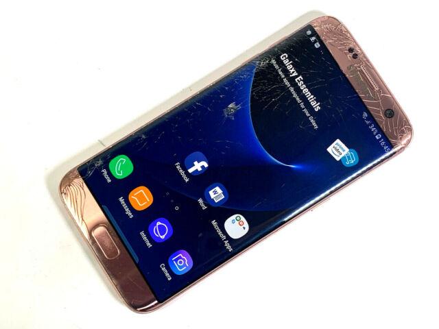 Samsung Galaxy S7 borde SM-G935F - 32GB-Dorado Rosa (Desbloqueado) mal estado 495