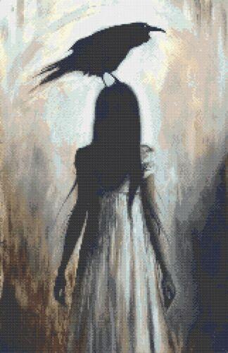 Crow FANCIULLA-contato cross stitch chart