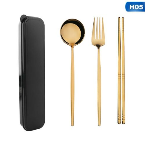 Details about  /Korean Stainless Steel Spoon /& Chopsticks Set Check Patten cookware tableware Co