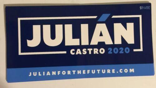 JULIAN CASTRO for President 2020 Democrat Official Campaign Bumper Sticker