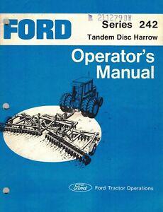 ford 242 tandem disc harrow operator s manual new ebay rh ebay com