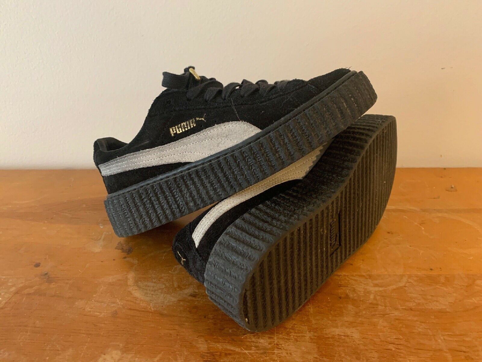 Puma Fenty Creeper By Rihanna Black Suede Size 7
