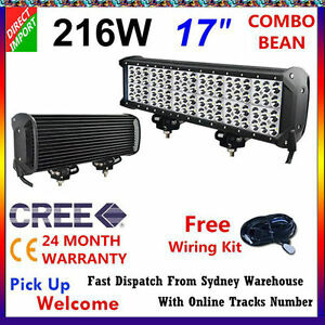 17-INCH-216-W-CREE-LED-Spot-Flood-4WD-Work-Light-Bar-Offroad-UTE-Boat-Lamp-4x4