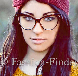 9e30e99308 Oversized Large Big Cat Eye Brown Tortoise PIN UP Clear EYE GLASSES ...