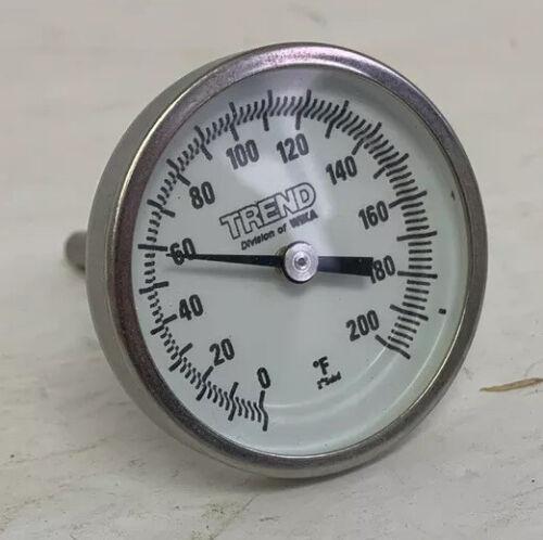 """Trend Wika TI.20 Bimetal Thermometer 2 1//2/"""" Stem 20-240 F//C 1//4/"""" Npt TI20 3 Unit"""