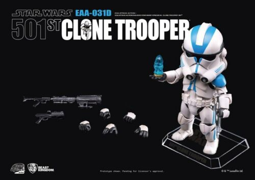 EGG ATTACK STAR WARS EAA-031D 501ST CLONE TROOPER NEW YORK COMIC CON FIGURE