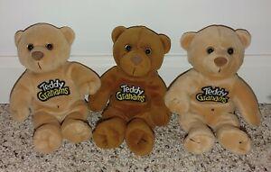 Teddy Graham Beanies Lot Of 3 Yummy Honey Spicy Cinnamon