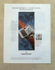 E535 - Advertising Pubblicità - 1997 - JAEGER LE COULTRE REVERSO DUOFACE