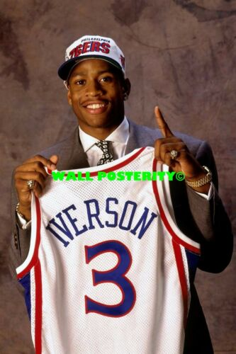 ALLEN IVERSON PRINT H Choose Size /& Media Type Canvas or Poster Print
