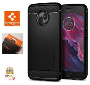 Custodia-Spigen-per-MOTO-X4-Cover-Rugged-Armor-Black-CarbonLook-Motorola