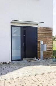 ALUMINIUM AS07 Anthrazit Haustür Haustüren Briefkasten Tür | eBay