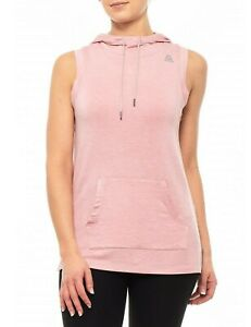 Reebok Training Relaxed Sleeveless Zephyr Nwt Move Hoodie 70 Heather Small FWBwqwdY0