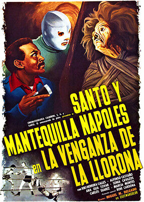 1963 Movie Poster Santo in the Wax Museum