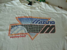 Vintage 80's MIZUNO Beach Volleyball White long sleeve rare adult T Shirt M