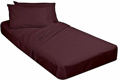 Burgundy Giblin Cot Size Flat Sheets 54 x 90 For camp Beds