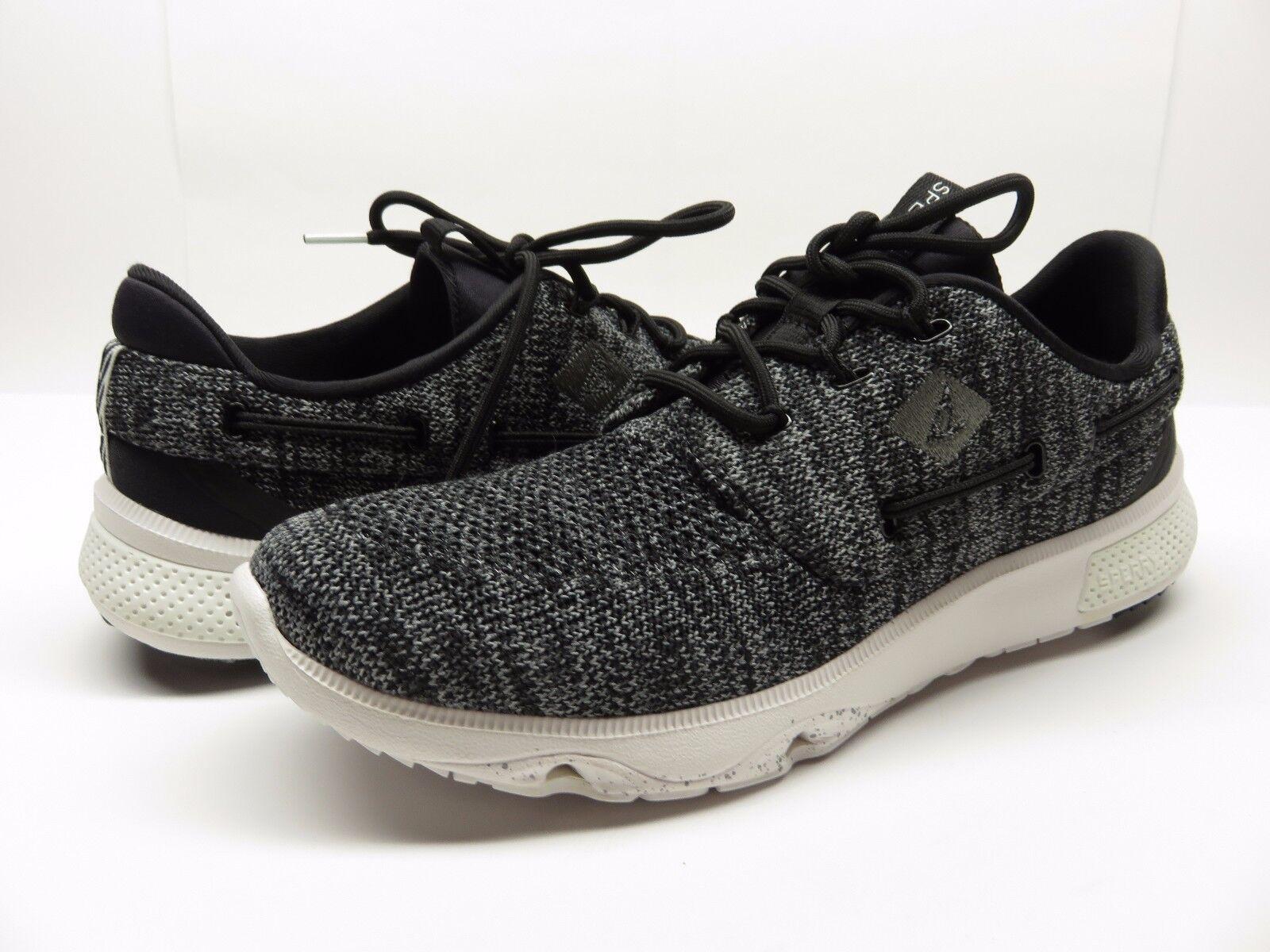 neue stricken sperry top 7 meeren stricken neue schwarze boot schuhe casual sportliche sneaker größe 11 m 2ff071
