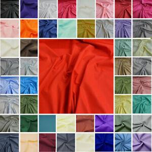 Plain-Coloured-Polycotton-Fabric-Poly-Cotton-Dress-Craft-Poplin-Costume-Lining