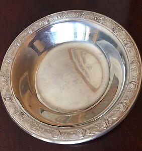 Reed Barton Classic Rose Design Silver Bowl Ebay