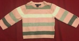 a16ccb189 Tommy Hilfiger Baby Toddler Girls Kids Pink Stripe Winter Sweater ...