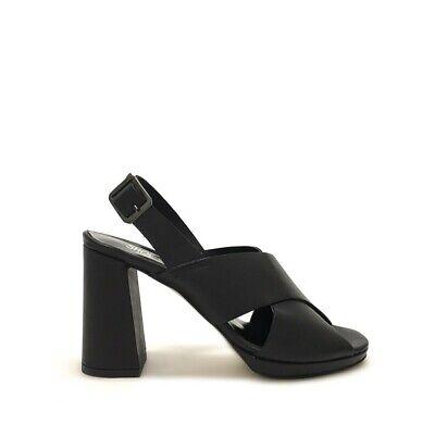 Sandali incrociati neri tacco medio shoegar bianco Estate