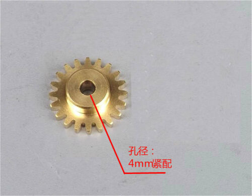 4x Motor spindle gear 20 teeth Metal Copper gear 4mm aperture tight with shaft