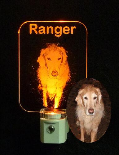 Keepsake animal Personalized Photo Etched Dog LED Night Light