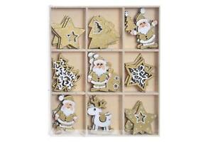 36 X Streudeko Tischdeko Weihnachten Gold Weihnachtsdeko Weiss
