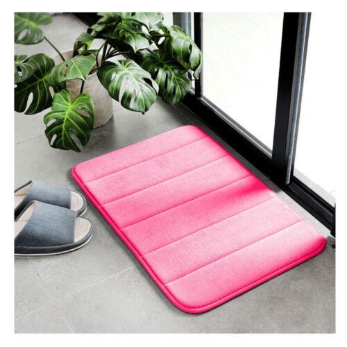 Absorbent Memory Foam Non-slip Bathroom Carpet Shower Bedroom Bath Mat Floor Rug