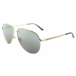 Gucci-GG0137S-002-Gold-Metal-Aviator-Sunglasses-Grey-Mirror-Lens