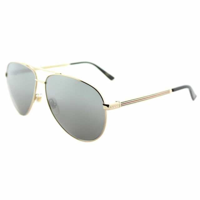 88c4870788d Gucci Men Women Gg0137s 61 Gold grey Sunglasses 61mm for sale online ...