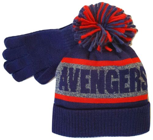 Boys Avengers Hat Gloves Pom Pom Winter Accessories Set